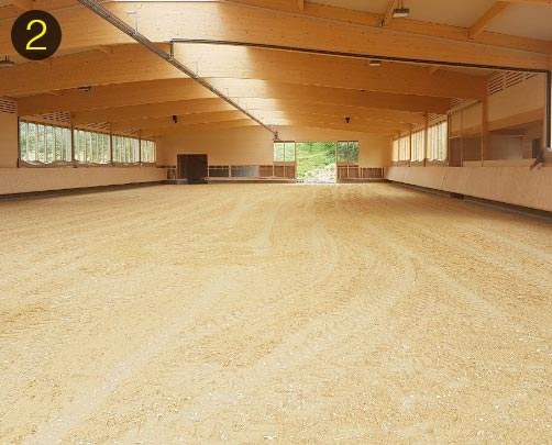 OTTO-ArenaTex footing on the indoor arena surface