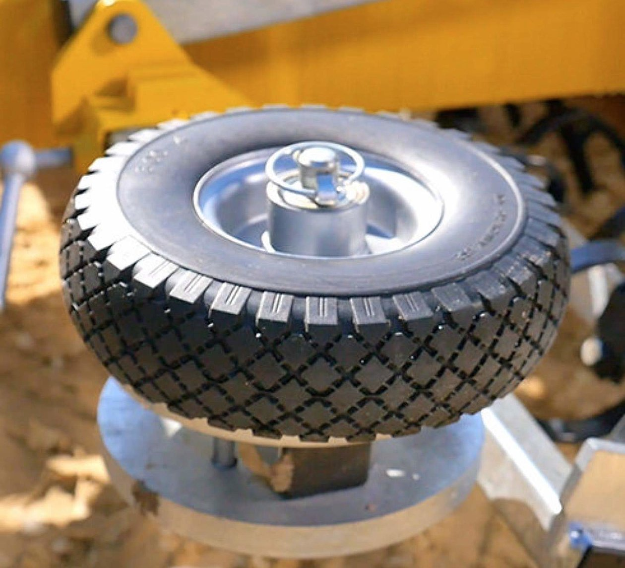 Barrier wheels on both sides