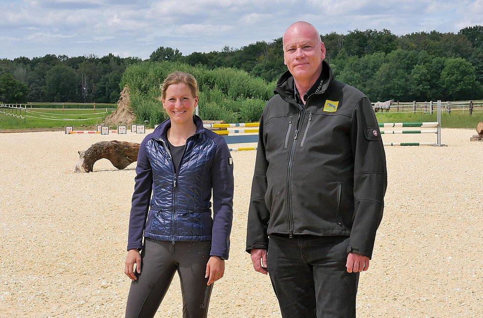 Unser Berater-Team vor Ort in Hamm: Sophie Leube mit Frank Weißkirchen