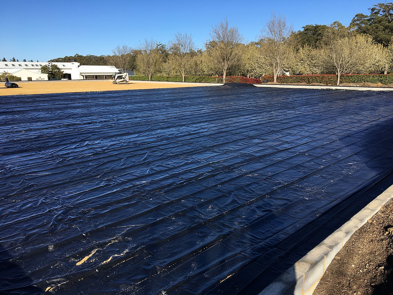 Installation of the PVC liner